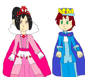 Princess Vanellope and Prince Cato by jlj16