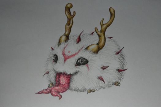 Bloodmoon poro by Zaza-Art