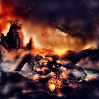 escape from  the dragons den by L-A-Addams-Art