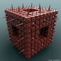 Red cube, red hands by p0pSyK4t