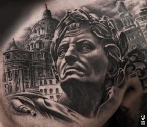 Black And Grey Tattoo by Remistattoo