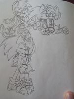 SonAmy sonic boom by Shira-Cat