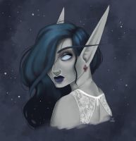 Void elf Lathela by Foxiart