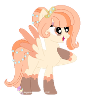 Cloud Pony oc for featheblossomartist by SugarMoonPonyArtist