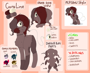 (Updated) Ref Sheet: Coraline by DollPone