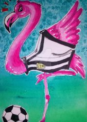 Soccer Flamingo by Schamala