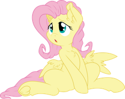 Fluttershy Sitting by illumnious