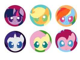 Chibi buttons by Neko-me