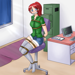 Christina in the office by Fecius