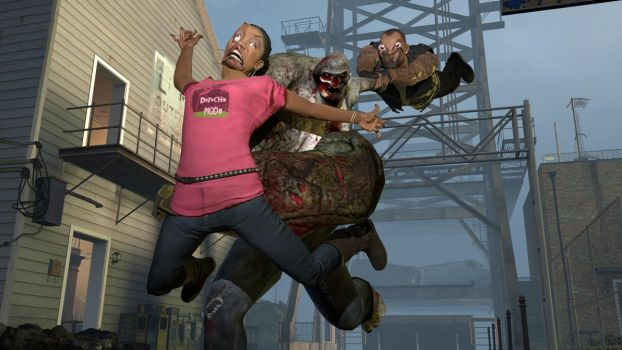 GMOD: Francis hates Rochelle for hating his vest by happy-heavy