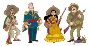 Mexican revolution characters by pecart