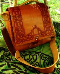 Large Knotwork Satchel by GrandfatherHermit
