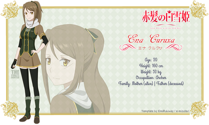 [AnS] Ena Curuxa (Character Sheet) by ThePirateHunter
