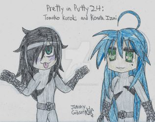 Pretty in Putty 24: Tomoko and Konata by CelmationPrince