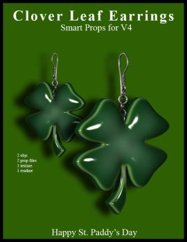 Clover Leaf Earrings by inception8-Resource