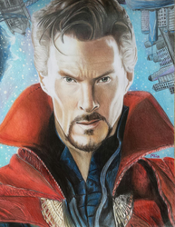 Doctor Strange (colored pencils) by MayTheForceBeWithYou
