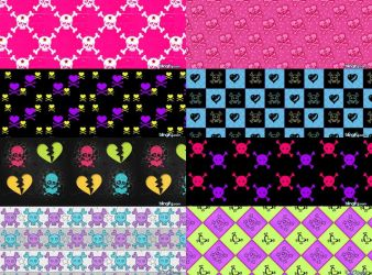 Skullz Pattern Set 2 by kvaughnp3
