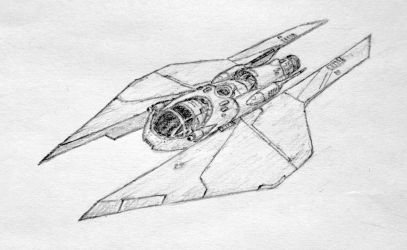 M3-A 'style 2' Scyk fighter by DarkSapiens