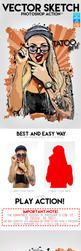 Vector Sketch Photoshop Action by GraphicAssets