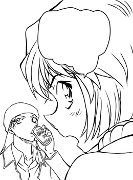 Lineart-Akai and Ai From File.850 by windwillows