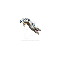 Painted Ivory Lagiacrus Preview by GaaraxHinata6666