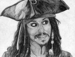 Captain Jack Sparrow by TalentedTiger