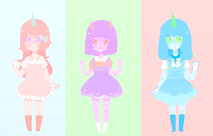 Pastel Adoptables { C L O S E D } by Lolibeat