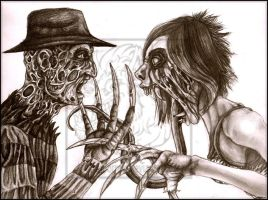 Freddy vs Weird _ Pencil by WeirdHyenas