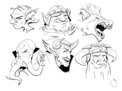 DnD Villian Faces by JoeyJulian