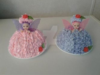 Sugar Plum Fairies Cakes by InkArtWriter