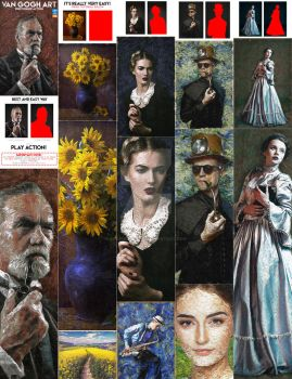 Van Gogh Art Photoshop Action by GraphicAssets