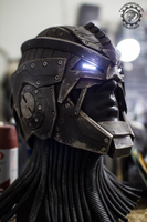 The Berserker - lightup Scifi hero/villain helmet by TwoHornsUnited