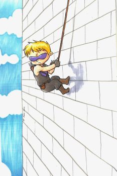 Hawkeye... not falling off a wall, for once by readyplayerzero