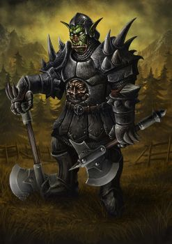 Orcish Axen Master by PeterSiedlArt