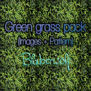 Green grass pack (Images + Pattern) by Bluuberwolf