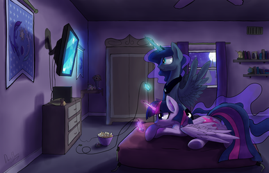 It is royal game night, Twilight Sparkle! by DarkFlame75