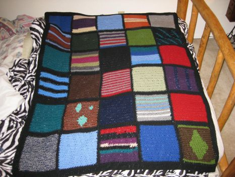Crochet block 'quilt' by crazynina