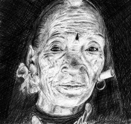 Woman from Nepal by lizzy1e