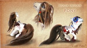Sioux Indian Custom Pony by Lithe-Fider