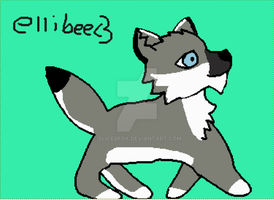 A drawing for Elliebee Sorry it took so long by SlicedFox