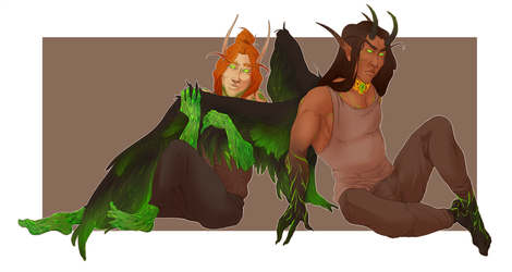Commission - Thantal and Vathiel by bylacey