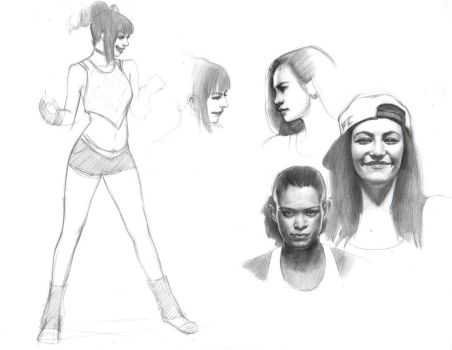 Studies for painting by FUNKYMONKEY1945