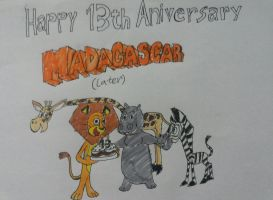 Happy 13th Anniversary of Madagascar (Later) by twinskitty