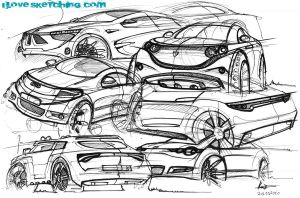 quick car sketchessss by ecco666