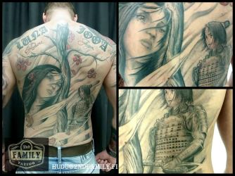 Back piese That I have been doing in short session by Hudu85