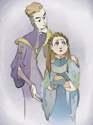 Lord Baelish and Alayne by poly-m