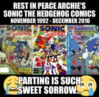 R.I.P Archie-Sonic by Nintrendodude
