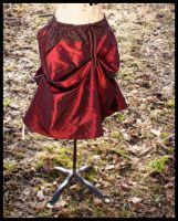 Rust Red Bustle Skirt by leapyearbaby