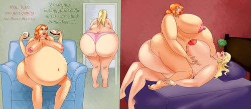 Scarlett and Kate feed eachother fat (part 2) by binge-chan