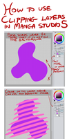 Manga Studio 5 Clipping Layer Tutorial by TheInkyWay